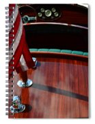 Chris Craft With Flag And Steering Wheel Spiral Notebook