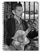 Chris Craig - New Orleans Musician Bw Spiral Notebook