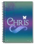 Chris Name Art Spiral Notebook