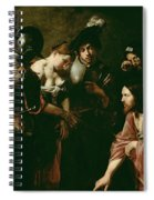 Christ And The Adulteress Spiral Notebook