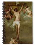 Christ Attended By Angels Holding Chalices Spiral Notebook