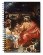 Christ Blessing The Little Children Spiral Notebook
