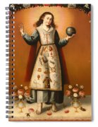 Christ Child With Passion Symbols Spiral Notebook