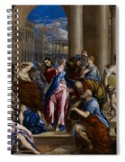 Christ Driving The Money Changers From The Temple Spiral Notebook