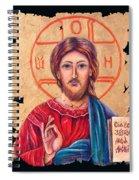 Christ Icon Fresco Spiral Notebook