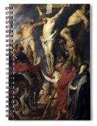 Christ On The Cross Between The Two Thieves Spiral Notebook