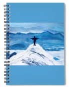 Christ Statue In Rio In Blue Spiral Notebook