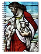 Christ The Good Shepherd With His Flock Spiral Notebook