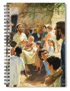 Christ With Children Spiral Notebook