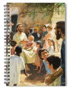 Christ With Children Spiral Notebook