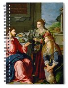 Christ With Mary And Martha Spiral Notebook