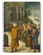 Christ With The Adulterous Woman Spiral Notebook