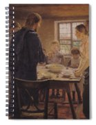 Christ With The Peasants Spiral Notebook