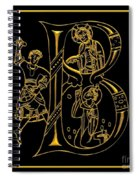 Christian Initial Letter B Spiral Notebook