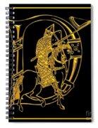 Christian Initial Letter D Spiral Notebook