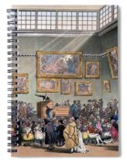 Christies Auction Room, Illustration Spiral Notebook