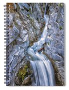 Christine Falls In Mount Rainier National Park Spiral Notebook