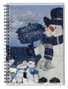 Christmas - Snowmen Collection - Family - Peace - Snow Spiral Notebook