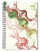 Christmas Abstract Spiral Notebook