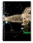Christmas Airplane Spiral Notebook