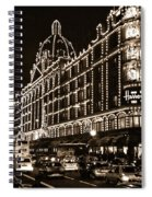 Christmas At Harrods Department Store - London Spiral Notebook