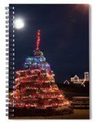 Christmas At Maines Nubble Lighthouse Spiral Notebook