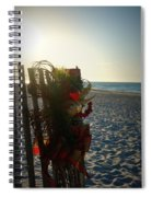 Christmas At The Beach Spiral Notebook