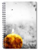 Christmas Ball Candle Lights On Winter Background Spiral Notebook