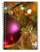 Christmas Ball Ornament Purple 1 Spiral Notebook