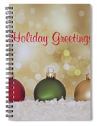 Christmas Baubles Spiral Notebook