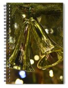 Christmas Bells Ornaments Faneuil Hall Tree Boston Spiral Notebook