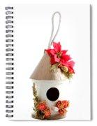 Christmas Bird House Spiral Notebook