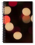 Christmas Bokeh Lights Spiral Notebook