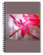 Christmas Cactus And Two Glasses - Merry Christmas Spiral Notebook