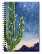 Christmas Cactus Spiral Notebook