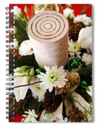 Christmas Candle 1 Spiral Notebook