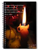 Christmas Candle Greeting Spiral Notebook