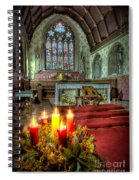 Christmas Candles Spiral Notebook