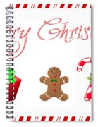 Christmas Card 25 Spiral Notebook