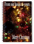 Christmas Card 2 Spiral Notebook
