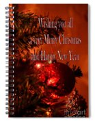 Christmas Card 4 Spiral Notebook