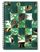 Christmas Card Collage Spiral Notebook