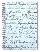 Christmas Card Multi Language  Spiral Notebook