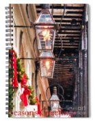 Christmas Card New Orleans Spiral Notebook