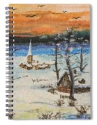 Christmas Card Painting Spiral Notebook