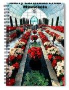 Christmas Card Sunken Garden Spiral Notebook