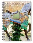 Christmas Carousel Warrior Horse-1 Spiral Notebook