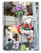 Christmas Carousel White Horse Spiral Notebook