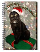 Christmas Cat Spiral Notebook