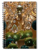 Christmas Chandelier Spiral Notebook